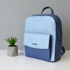 Рюкзак женский синий - голубой, женский рюкзак летний на лето