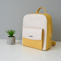 Рюкзак женский желтый - бежевый, женский рюкзак летний на лето