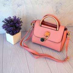 Женская сумочка через плечо с откидным клапаном Розовый