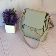 Компактный сумка-рюкзак 2 в 1 со стильной металлической цепочкой