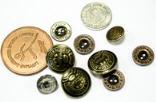 Кнопки, металлические пуговицы для одежды