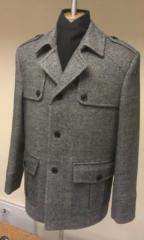 Coat man's a pea jacket - tweed