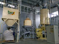 For the production of pellets from biomass...