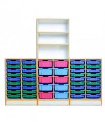 Шафа для зберігання з пластиковими ящиками
