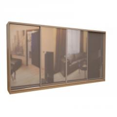 Шкаф-купе «ШН-286» Зеркало/Зеркало/Зеркало/Зеркало