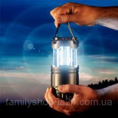 Кемпинговый светодиодный фонарь на солнечных