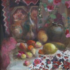 Живопись - Осенний натюрморт, масло,холст, 80*80