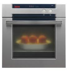 Glass in an oven