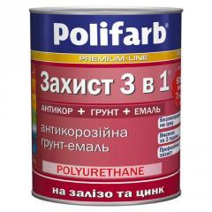 Антикоррозионная эмаль 3 в 1 Polifarb (Полифарб)