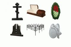 Изделия ритуальные: Кресты,Гробы, Венки,
