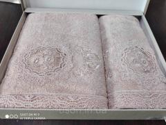Набор махровых полотенец бамбук 50*90 и 70*140 TM