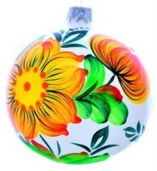 Ялинкова новорічна кулька 10 см в десяти кольорах.