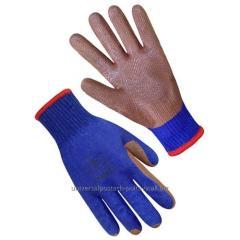 """Перчатки """"Стекольщик"""" синие с красным"""