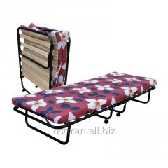 Folding bed on 15 lamels with a mattress of 8 cm.