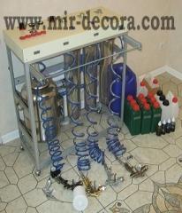 Equipment for chemical metallization (plastik.