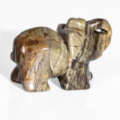 Статуэтка Слоник из яшмы полосатой, 648ФГЯ