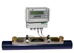 Ultrasonic flowmeter of ACRON-01 with laid on
