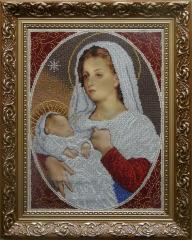 Set for embroidery by beads Madonna with the child
