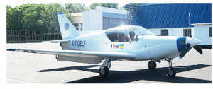 The Y1 DELPHINE light plane in Ukraine