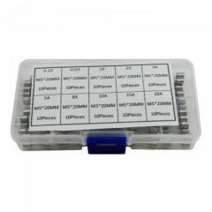 100x Предохранитель стеклянный М5х20мм, 0.5-30А,