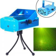 Лазерный проектор стробоскоп цветомузыка,
