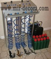Equipment for decor of metallization of plastic,