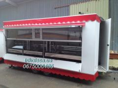 The trade trailer of 5 m with a refrigerating