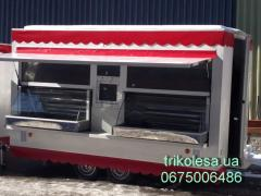 The trade trailer of long 2 m with a refrigerating