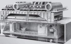 Нагревательная печь с шагающим подом для нагрева и термообработки заготовок из углеродистых и специальных сталей и сплавов перед прокаткой, Производительность печи, 15-45 тн/час, Температура нагрева 1030-1250°С