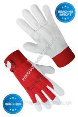 Перчатки рабочие комбинированные ткань / белая