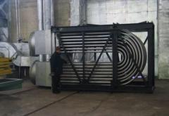 Рекуператоры петлевые трубчатые для утилизации тепла отходящих дымовых газов, имеющих температуру до 1000°С, и подогрева воздуха, имеющегося для сжигания топлива в печных агрегатах, до температуры 350-400°С