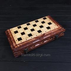 Подарочные шахматы-нарды ручной работы, ...