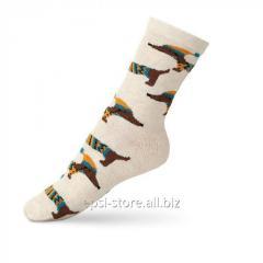 Детские носки с рисунком «такса» VT Socks