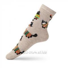 Детские носки с рисунком кота в свитере VT Socks