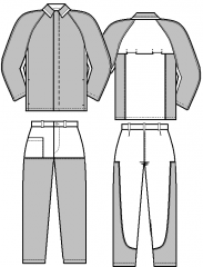 Suit cloth for protection against the increased