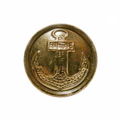 Пуговица морская 22 мм (парадная, металл)