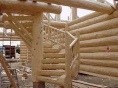Лестницы из бревна. Изготавливаем лестницы под
