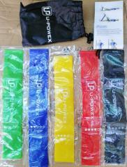 Набор лент-эспандеров резинки для фитнеса U-powex