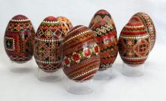 Highly artistic painted Easter eggs - pisanka