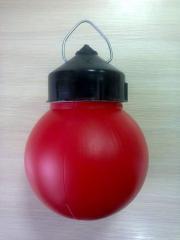 The NSP 03-60-003 lamp red without kl.kolodka on a