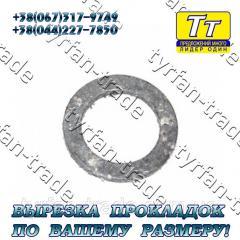 Прокладка фланца ду-32 (паронит,  резина, ...