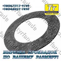 Прокладка фланца ду-80 (паронит,  резина, ...