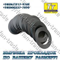 Прокладка фланца ду-125 (паронит,  резина, ...