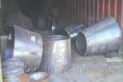 Transitions, tees for pipes and boilers