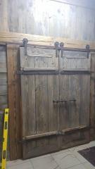 Раздвижные двери из амбарного дуба