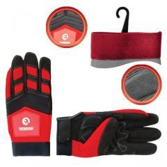 Перчатка Microfiber тканевая красная с черными