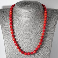 Коралл красный, Ø8 мм., бусы, 124ОК