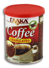 Soluble natural coffee