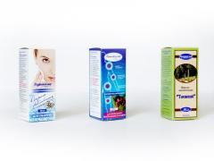 Packaging from the cardboard of 115*45*45 mm. for