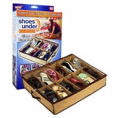 Органайзер для обуви Shoes Under на 12 пар бежевый